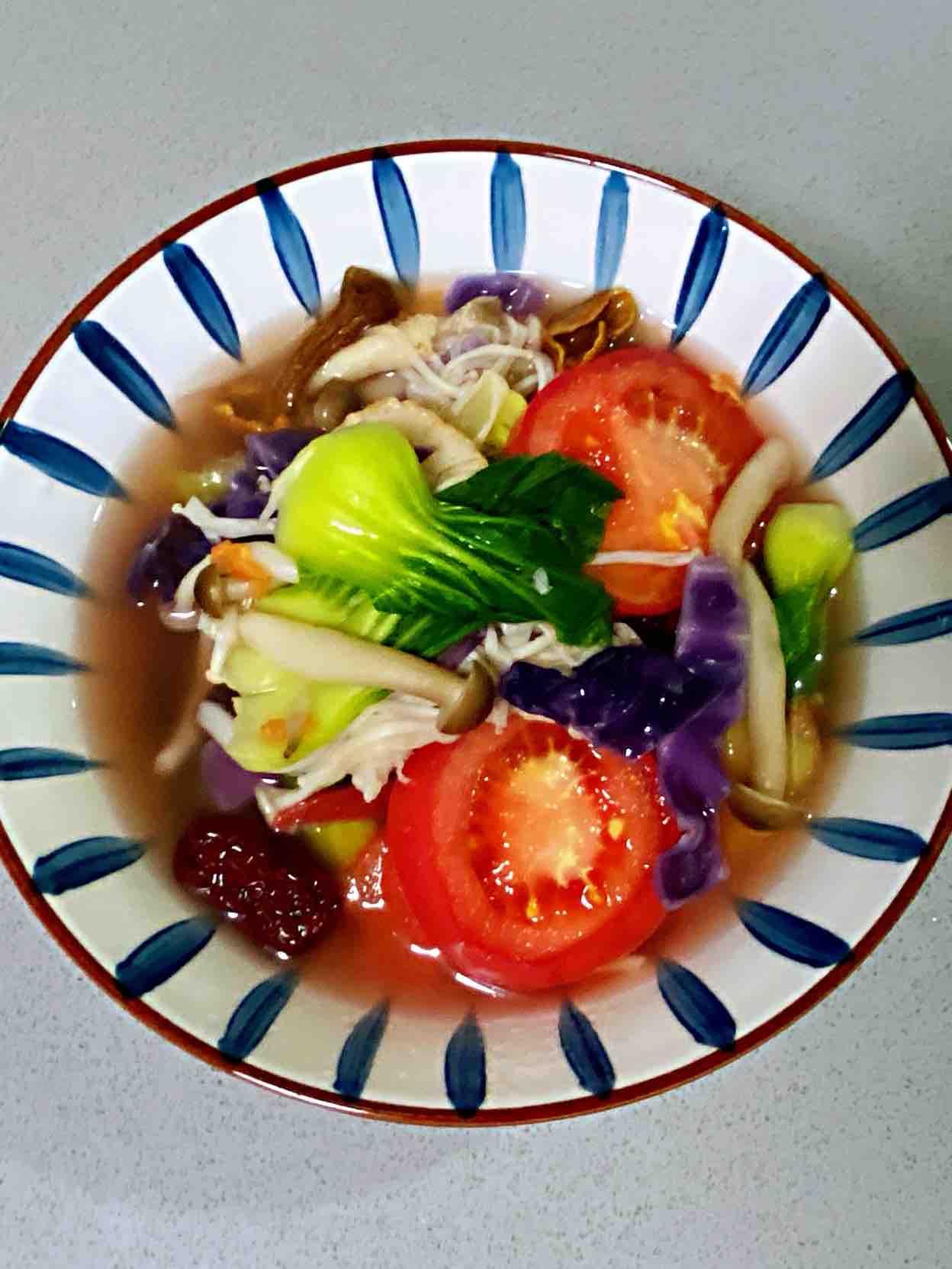 【孕妇食谱】五彩菌菇汤,鲜美低脂又营养,好吃好喝不发胖~的做法