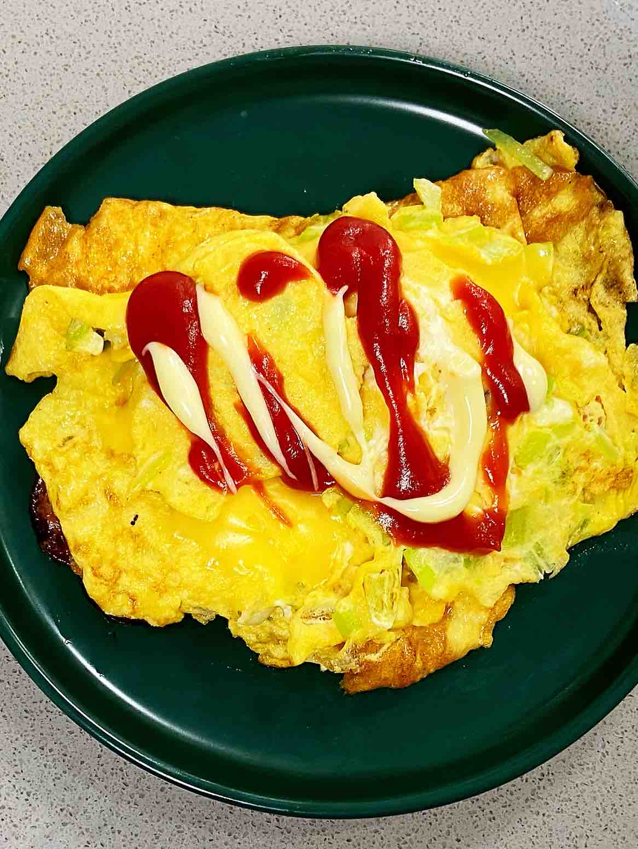 【孕妇食谱】火腿芝士蛋卷,色泽金黄,营养丰富~的做法