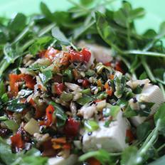 豆腐豌豆苗汤