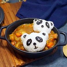 熊猫牛肉咖喱饭