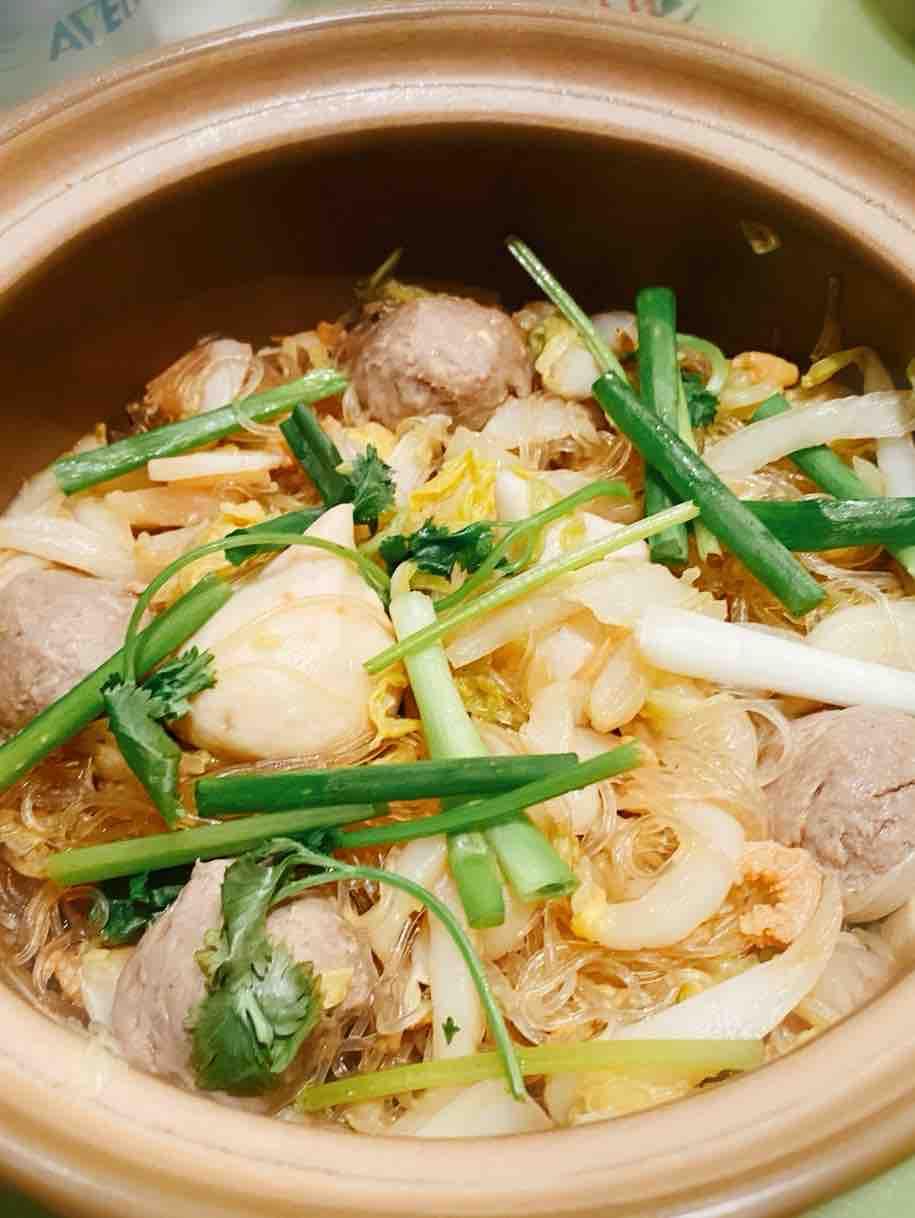 肉丸白菜粉丝煲
