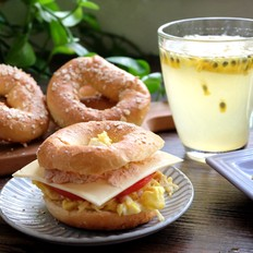 燕麦贝果及贝果三明治