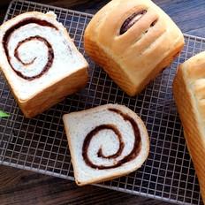 豆沙吐司面包的做法