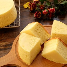 古早蛋糕(6寸圆模2个)的做法