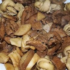 百叶结杏鲍菇炒肥瘦肉片