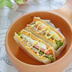吞拿鱼三明治#丘比沙拉酱#的做法
