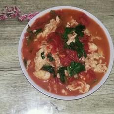 西红柿菠菜炒鸡蛋