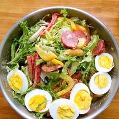 鸡肉红肠蔬菜沙拉