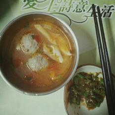 番茄蘑菇牛肉丸汤