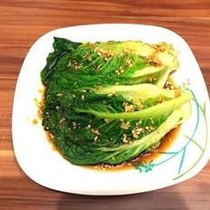 蒜蓉酱油白灼生菜