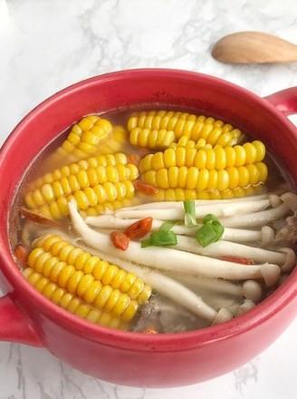 玉米菌菇汤的做法