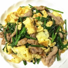 韭菜鸡蛋炒肉丝