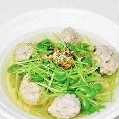 香松豆苗肉丸汤