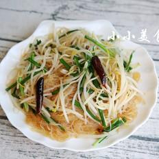 笨豆芽炒粉:东北家常菜,鲜香爽口,超级下饭