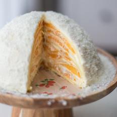 芒果千层蛋糕(小雪堆)