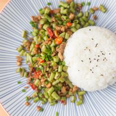 雪菜肉末豇豆