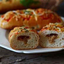 香葱肉松芝士面包
