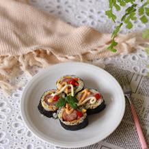 什锦炒米香肠卷