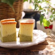 抹茶双色古早味蛋糕