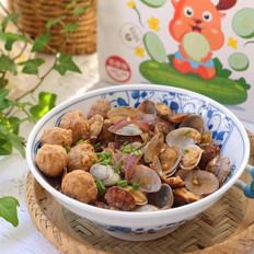 花蛤炒肉丸