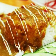 """网红菜""""炸猪排咖喱蛋包饭"""