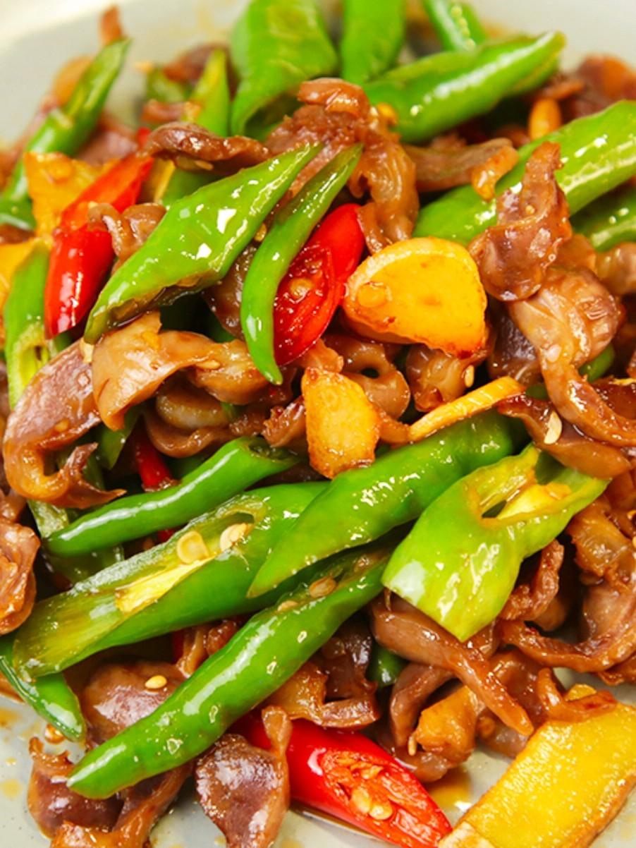 香辣子姜鸡胗丨比鸡肉好吃又脆爽