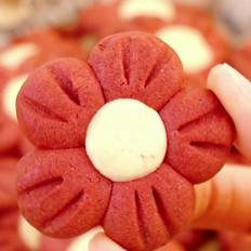 小红花曲奇饼干
