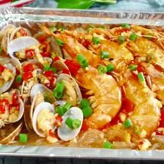 蒜蓉粉丝烤海鲜碗
