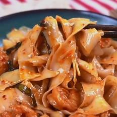 葱油虾拌面的做法