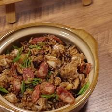 电饭煲腊肠芋头焖饭的做法