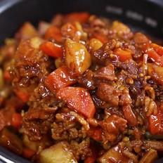 电饭煲咖喱猪肉焖饭的做法