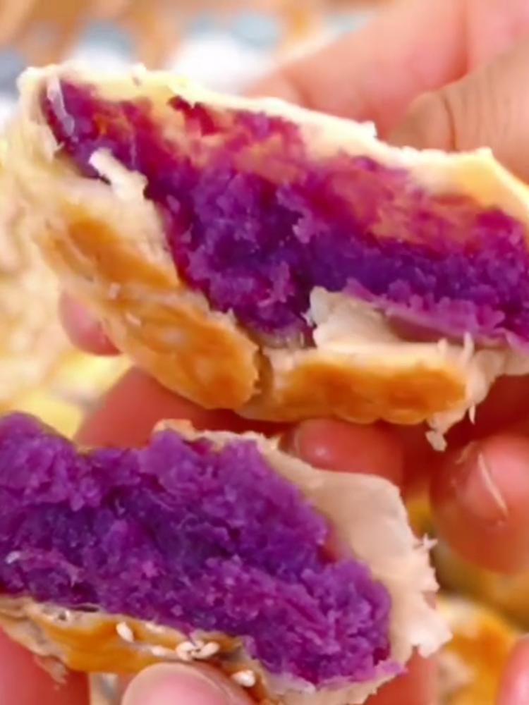蛋挞皮老婆饼的做法