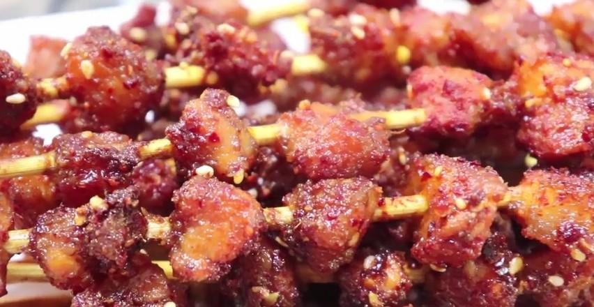 烤五花肉串的做法