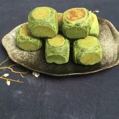 抹茶麻薯仙豆糕教程,第五个抹茶味食谱。