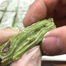 抹茶红蜜豆麻薯(简易微波炉版)
