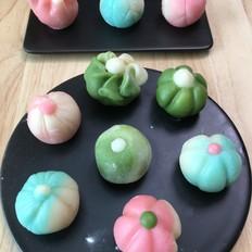 冰皮月饼-仿和菓子造型