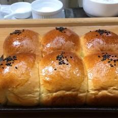 奶油小餐包,一次发酵法,简单又快手!