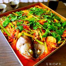 香辣烤鲈鱼