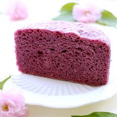 牛奶紫薯发糕
