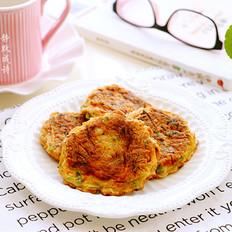 胡萝卜虾皮蛋饼