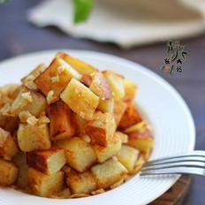 蒜香煎土豆