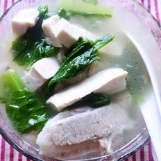 五花肉小白菜豆腐汤