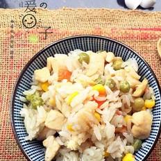 鸡肉彩蔬焖饭