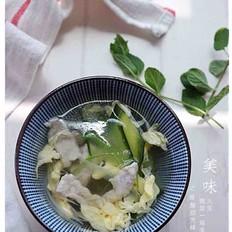 青瓜肉片汤的做法