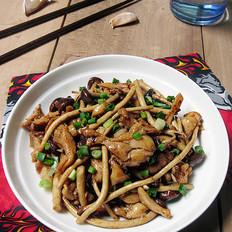 茶树菇炒鸡肉