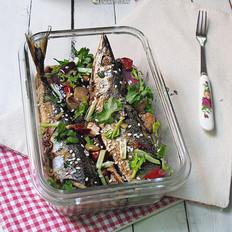 洋葱香菇炖秋刀鱼