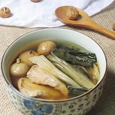白菜干无花果肉片汤