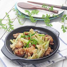 花菜焖鸡翅