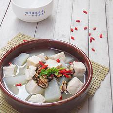 淡菜萝卜豆腐汤