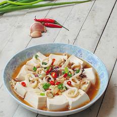 鲜鱿蒸豆腐的做法